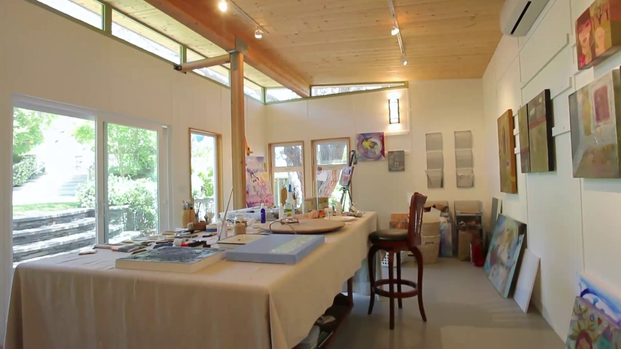 ^ Bay rea couple creates spacious painting studio for two — Modern ...