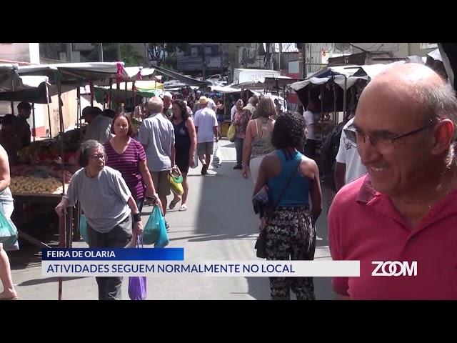 19-03-2020 - ATIVIDADES NA FEIRA DE OLARIA SEGUEM NORMALMENTE NO LOCAL - ZOOM TV JORNAL