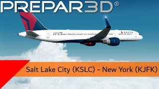 P3D V4.4  - Delta 757-200 - Salt Lake City to New York (KSLC-KJFK)