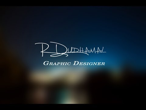 How to make Attractive Logo Or Wallpaper With Your Signature