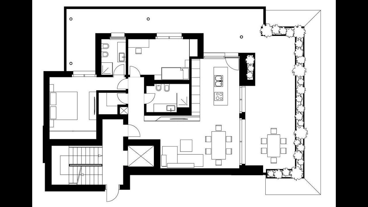 Plano de departamento moderno con dise o de interiores for Interiores de diseño