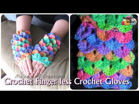 Crocodile Finger less Gloves – Crochet Tutorial