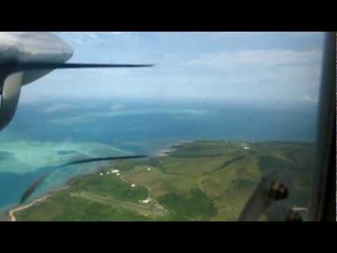 Taking off from Erub (Darnley) Island in the Torres Strait