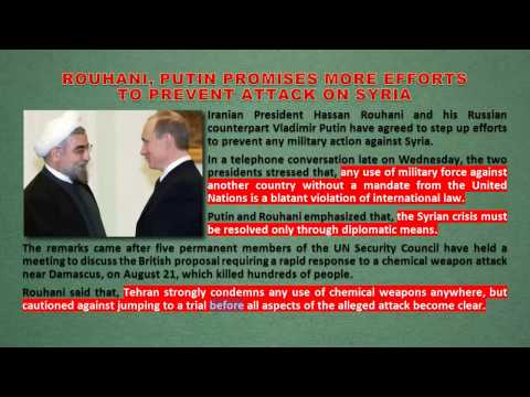 Rouhani & Putin Promises more Efforts to Prevent Attack on Syria