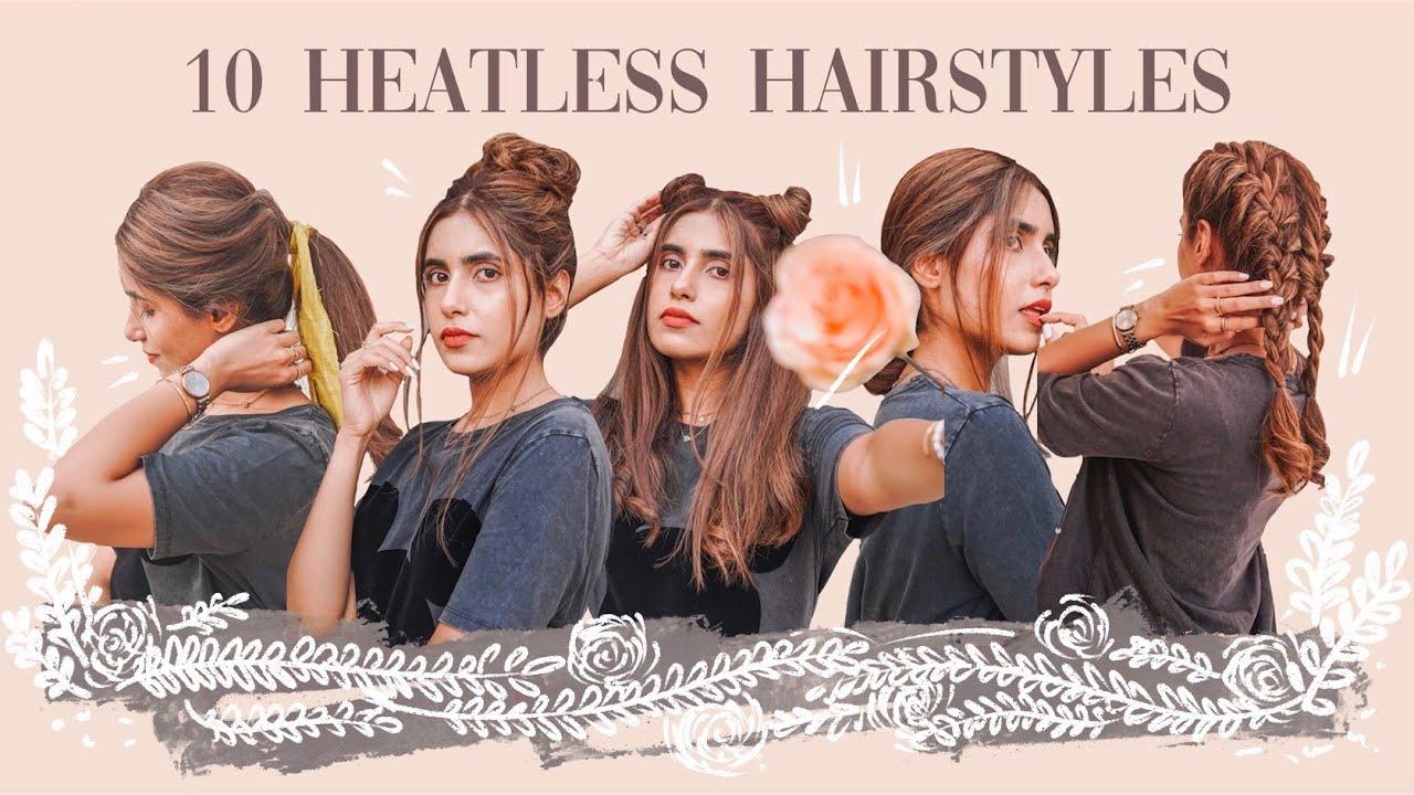 ☆ 10 easy heatless hairstyles ☆