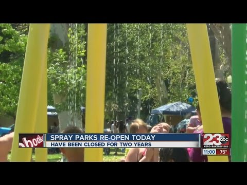 Spray parks reopens after two-year closure