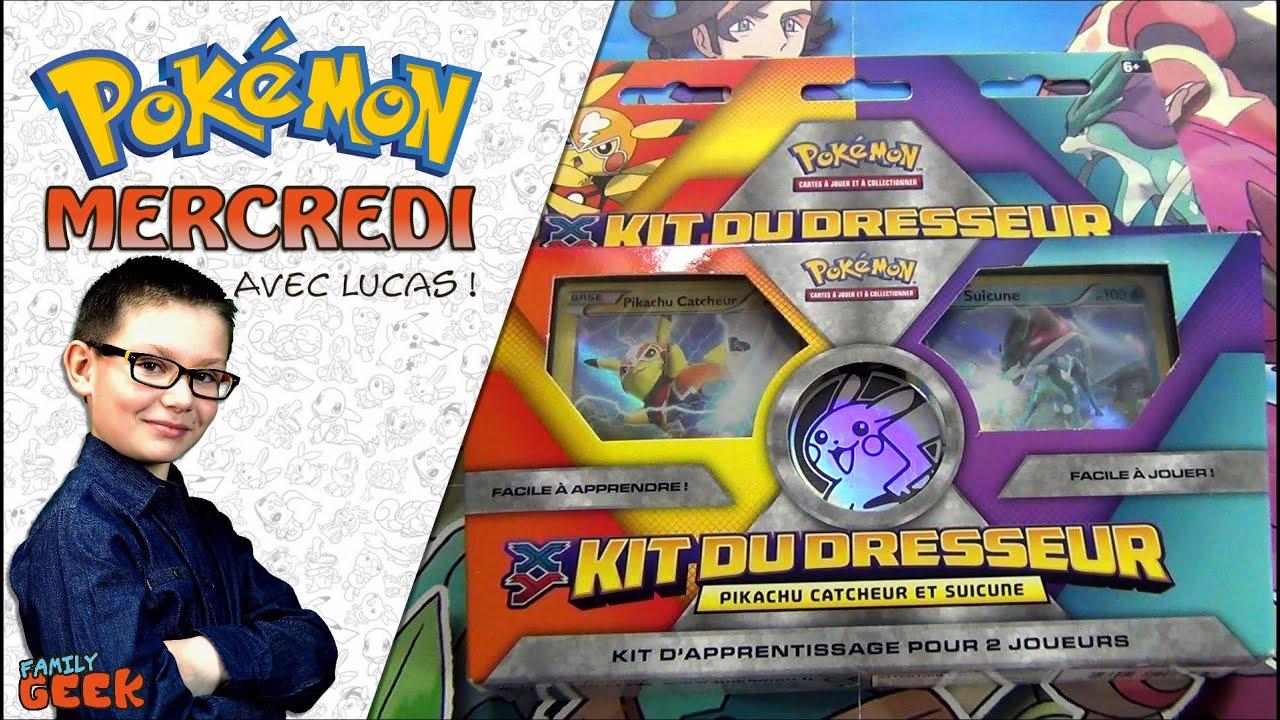 Ouverture avec maman d 39 un kit du dresseur pok mon pikachu catcheur suicune family geek youtube - Pokemon famille pikachu ...