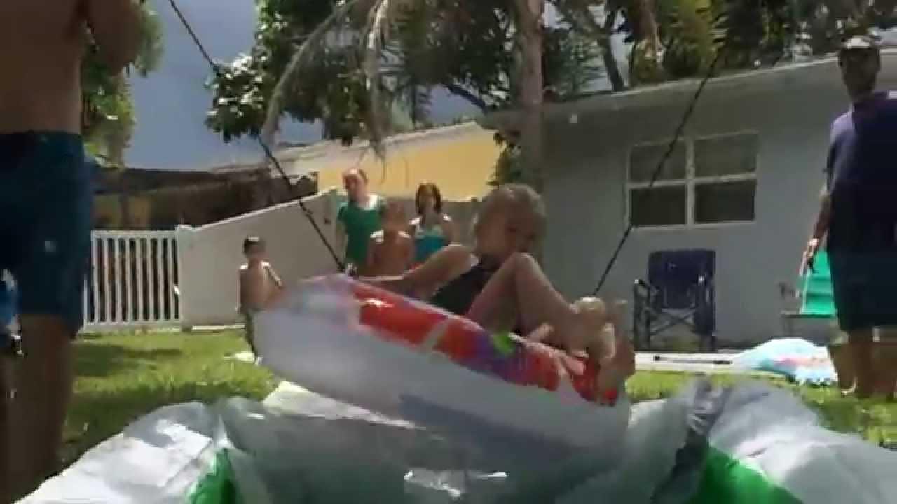 slip n u0027 ramp n u0027 splash backyard waterpark youtube