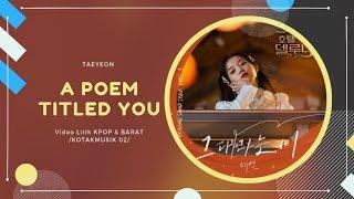 TAEYEON - 'A POEM TITLED YOU' Easy Lyrics (SUB INDO) | Hotel Del Luna OST Part. 3