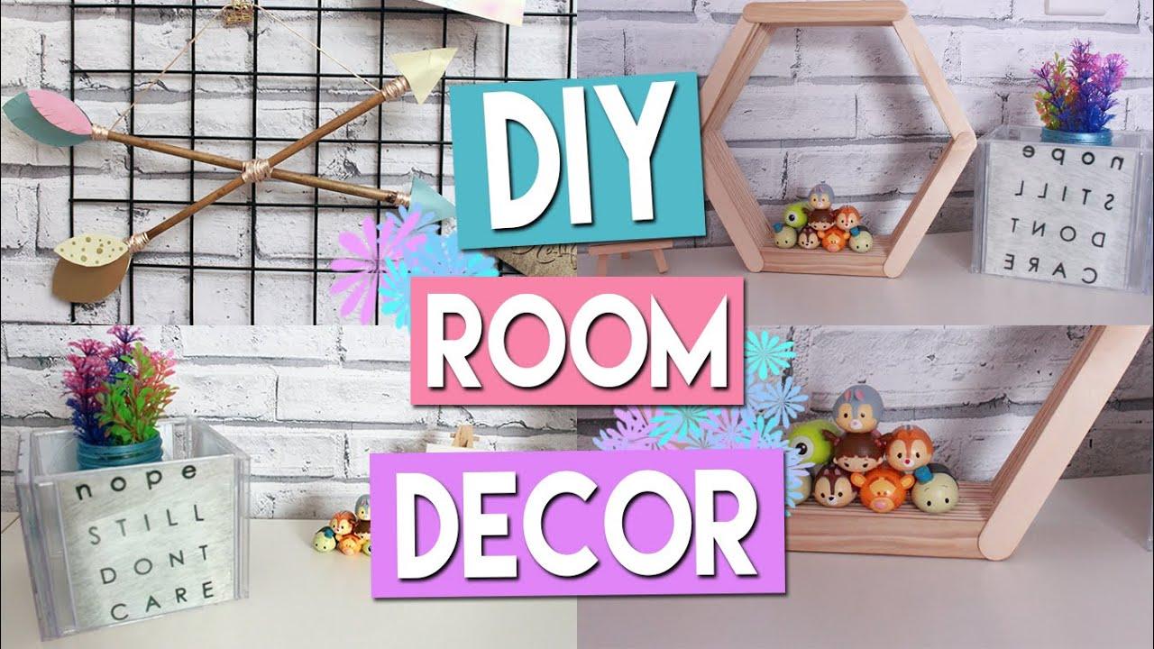 diy budget room decor l £1/dollar store! - youtube