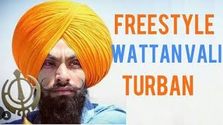 Advanced Free Style Patiala shahi wattan wali pagg like jassar gurpreet laad with Base