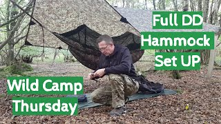 Wild Camp Thursday | Full DD Hammock Set Up | DD Jura 2 | DD Multicam Tarp | SAK | Swiss Army Knife