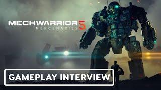 Mechwarrior 5: Mercenaries - Gameplay Interview | E3 2021