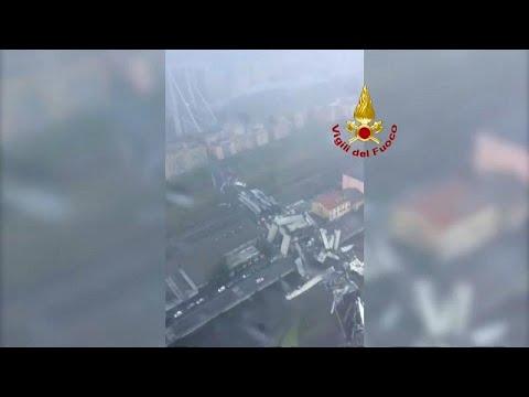 شاهد: اللحظات الأولى بعد انهيار جسر السيارات في جنوة الإيطالية …  - نشر قبل 34 دقيقة