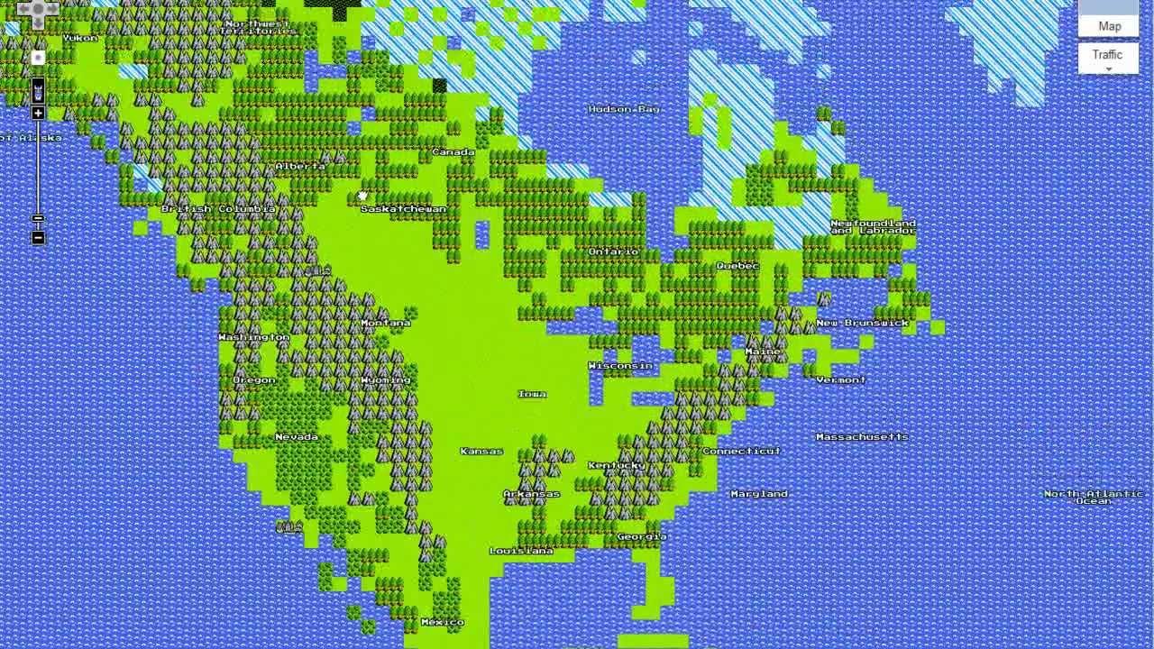 Google Maps 8bit for NES YouTube