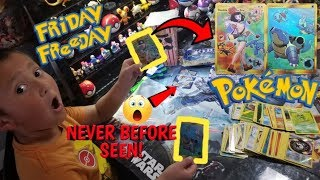 NEW GOLD SECRET RARES!! Old Vintage & Custom Pokemon Cards From Fanmail! Friday Freeday #65