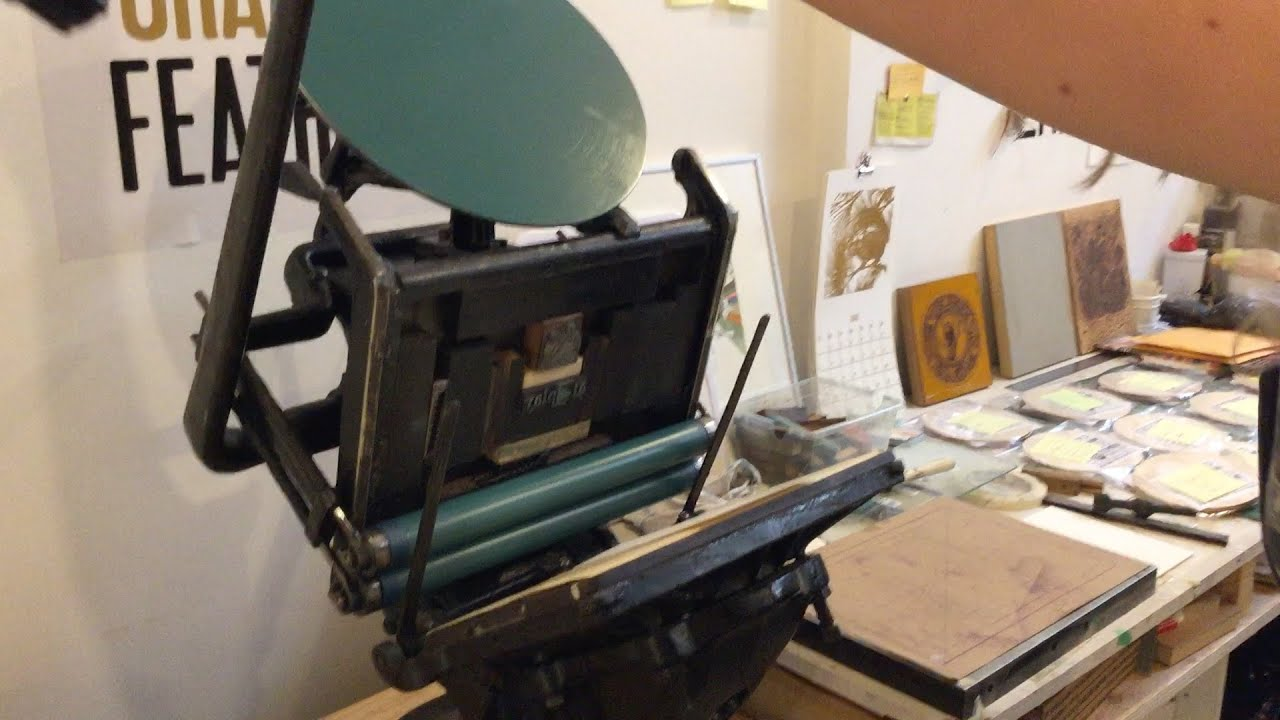 Atplayio How To Use A Vintage Letterpress