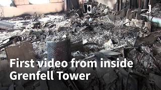 First video from inside Grenfell Tower