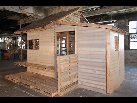 Como hacer una casa de madera con palets youtube for Como hacer piscicultura en casa