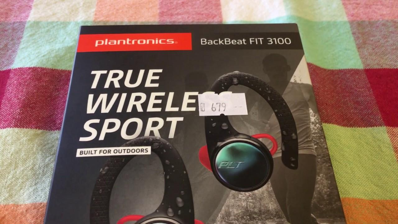 Plantronics Backbeat Fit 3100 Black Unboxing Youtube