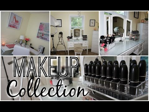 Makeup Collection & Storage 2015 + Beauty Room Tour | juicyyyyjas