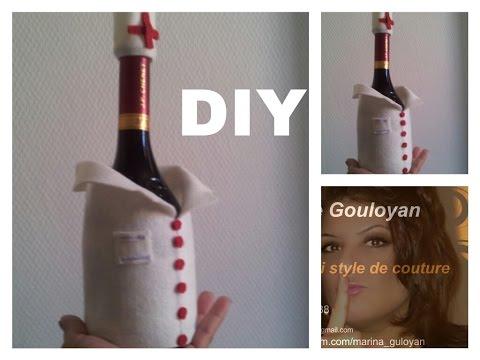 DIY Мастер класс  Бутылка вина для  врач в подарок Марине Гулоян