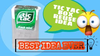 WATCH THIS VIDEO BEḞORE THROWING YOUR TIC TAC BOXES | REUSE IDEA | COVERED PENCIL SHARPENER |