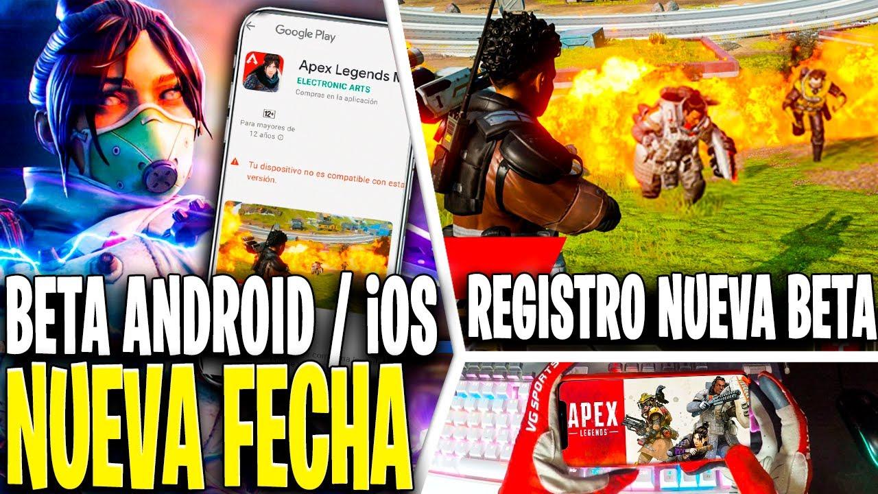 APEX LEGENDS MOBILE FECHA BETA CHINA GUIA REGISTRO + REQUISITOS MINIMOS GAMEPLAY ESPAÑOL ANDROID iOS