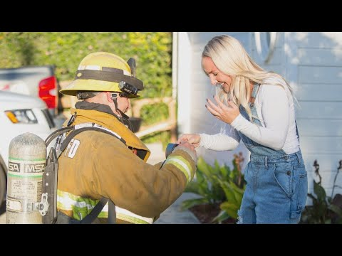 Hoss Michaels - Watch: Firefighter Fakes Blaze At Home To Pop The Question