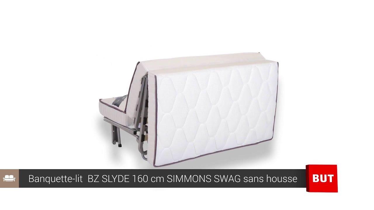 Banquette Lit Bz Slyde 160 Cm Simmons Swag Sans Housse But Youtube