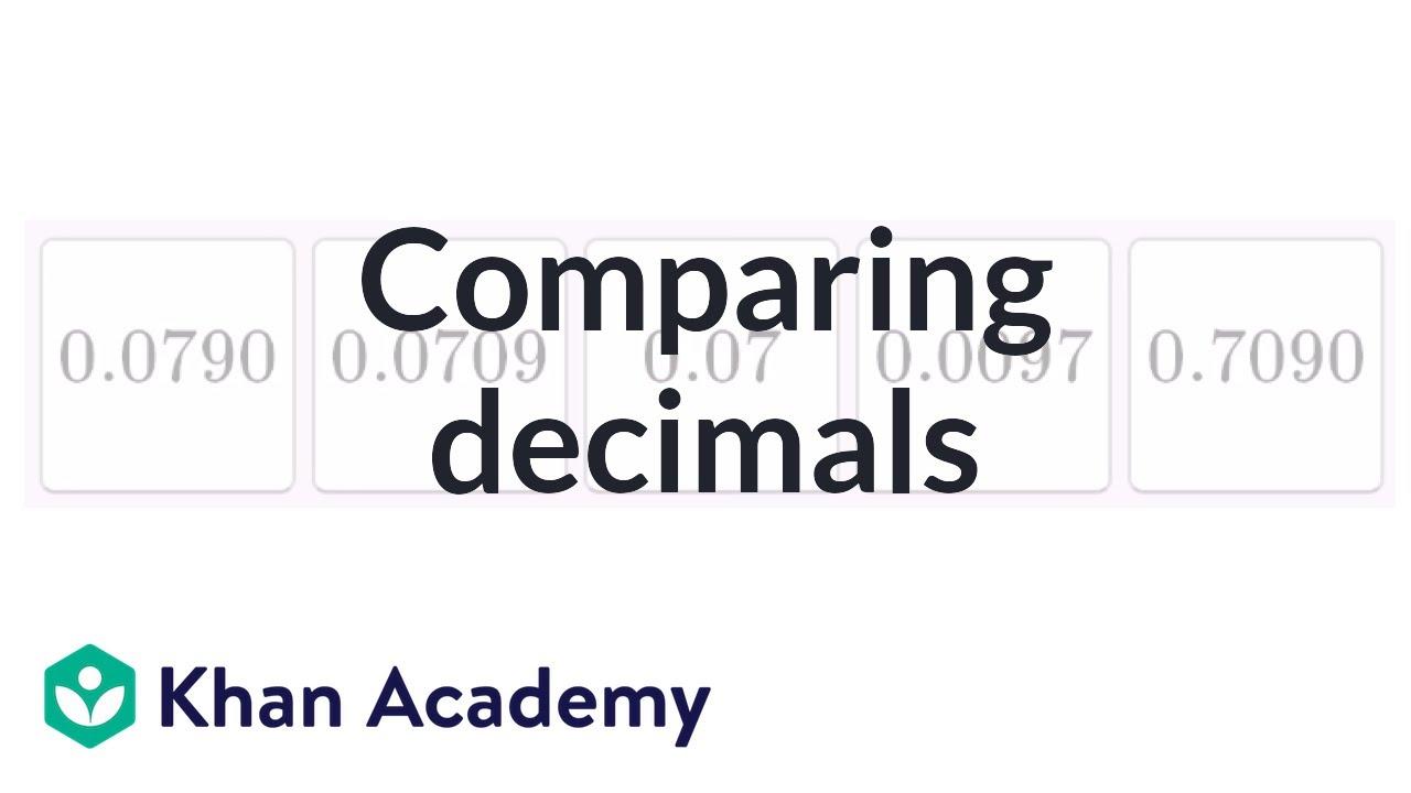Ordering decimals 1 (video)   Decimals   Khan Academy [ 720 x 1280 Pixel ]