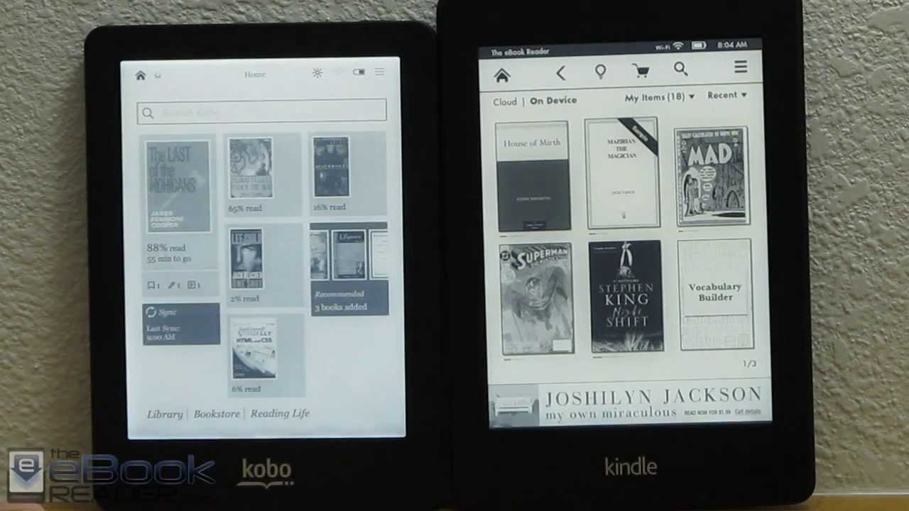 Kindle Paperwhite 2 Vs Kobo Glo Comparison Review Youtube