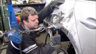 VW Jetta. The quarter panel repair. Ремонт заднего крыла.