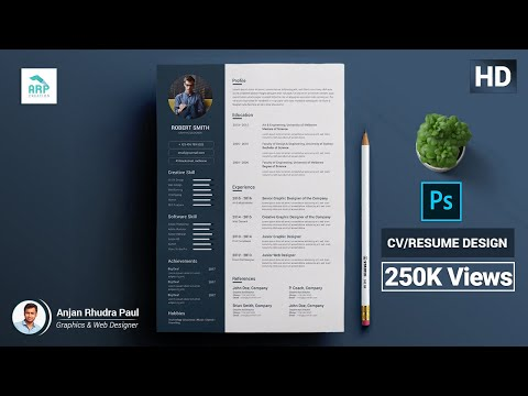 How to Create a CV/RESUME template in Photoshop : Photoshop Tutorial