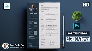 ✪ How to Create a CV/RESUME template in Photoshop : Photoshop Tutorial ✪