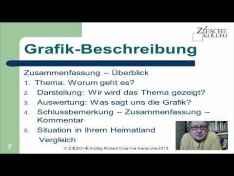dsh vorbereitungskurs grafikbeschreibung s07 zusammenfassung youtube - Dsh Prfung Beispiel