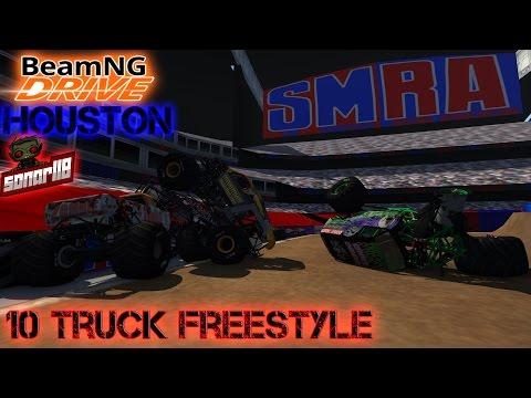 BeamNG.drive Monster Jam: SMRA Houston 10 Truck Freestyle Event (Read the description)