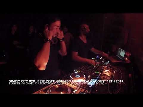 Simply City b2b Jesse Zotti - August 19th at Stereo Montreal