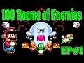 100 Rooms of Enemies EP#1 {Mario World Rom Hack}