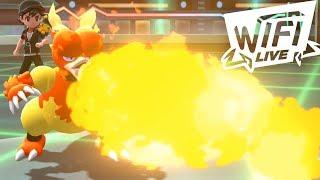 Pokemon Let's Go Pikachu & Eevee Wi-Fi Battle: Magmar is FIRE! (1080p)