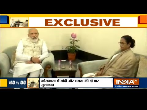 PM Modi and Mamata Banerjee meet at Raj Bhawan