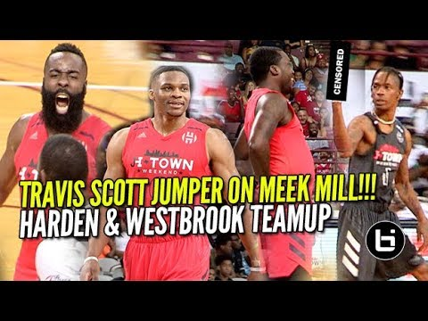 James Harden & Russell Westbrook TEAM UP VS Travis Scott & Demar DeRozan!