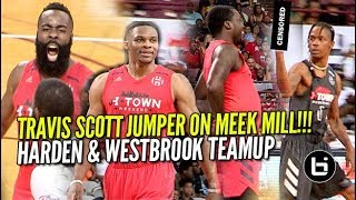 James Harden & Russell Westbrook TEAM UP VS Travis Scott & Demar Derozen!