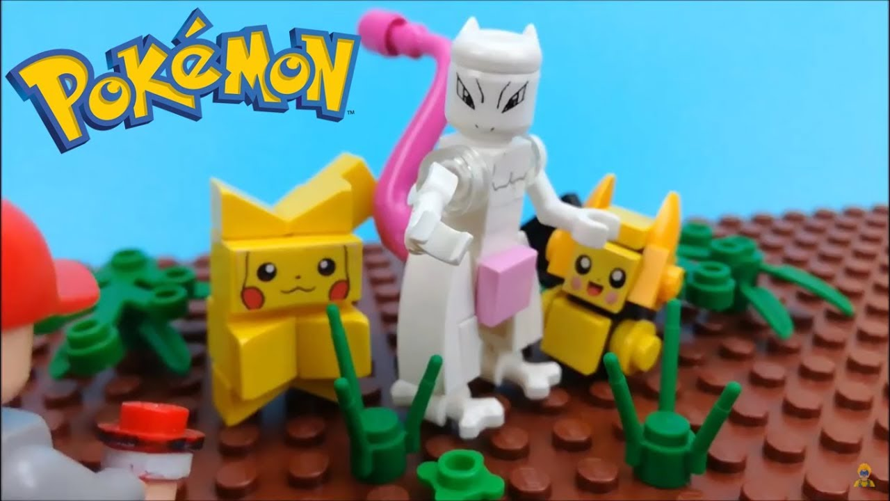 Lego Pokemon Mewtwo V2 Brick Figure Youtube