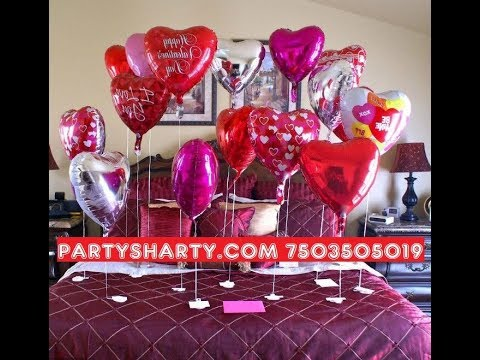 Balloon surprise decoration birthday room decoration for for Room decor ideas for husband birthday