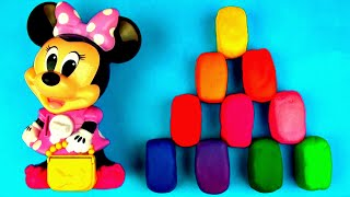minnie mouse play doh surprise eggs mickey mouse sesame street peppa pig disney frozen car fluffyjet