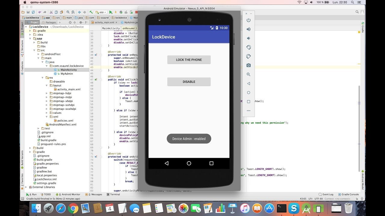 Creating A Lock Screen Device App For Android Sylvain