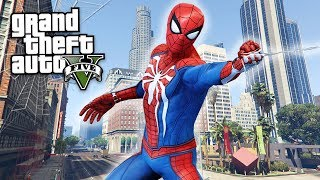 GTA 5 Mods - SPIDERMAN MOD 2.0 w/ PS4 SPIDERMAN! GTA 5 Spiderman 2.0 Gameplay! (GTA 5 Mods Gameplay)