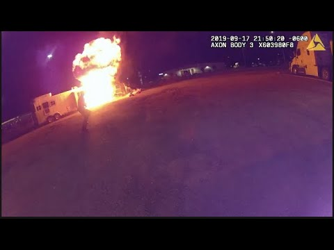Propane Tank Explosion Captured on Multiple Body Cams