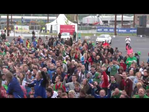 Northern Ireland fans Sing  Sweet Caroline EURO 2016